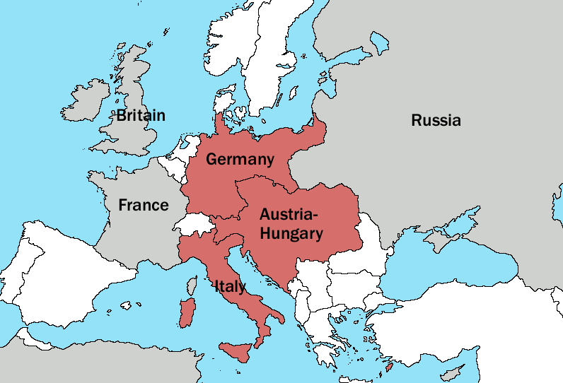 History modern easy peasy all in one homeschool heres a map to help you answer the triple alliance question gumiabroncs Gallery