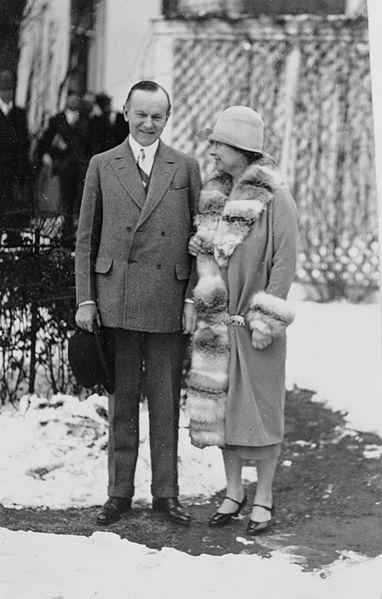 Helen Keller and President Coolidge