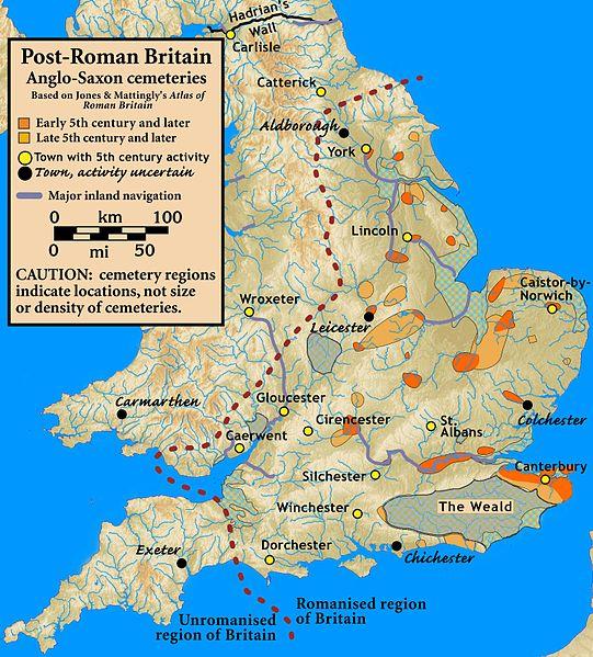 Map of Post-Roman Britain
