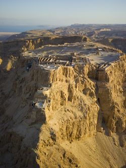 Aerial View of the Masada
