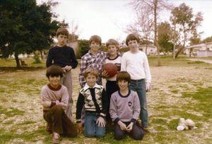 Kibbutz boys with a football