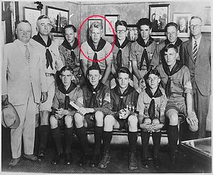 Gerald Ford with Eagle Scouts