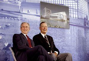 Bush and his sonGeorge W. Bush