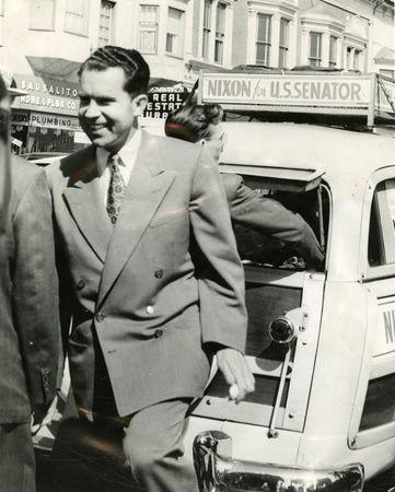 """Nixon on his """"station wagon tour"""""""