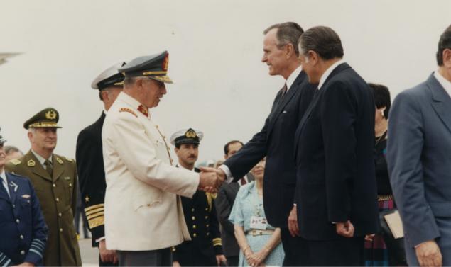 Bush and Chilean leaderAugusto Pinochet