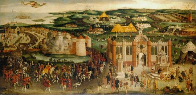 The meeting of Francis I and Henry VIII