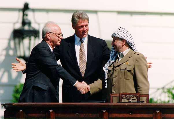Clinton,Yitzhak RabinandYasser Arafat